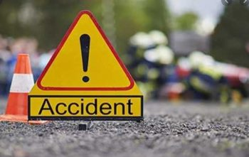 The accident between Truck & Tractor at Nipora Qazigund, two person injured
