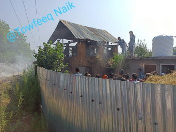 Cowshed gutted in fire at Babapora in Zainapora South Kashmir