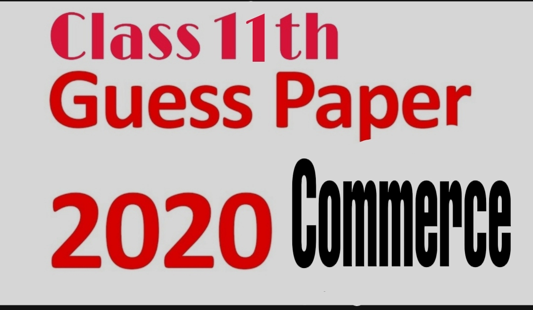 JKBOSE Class 11th commerce model guess papers 2020