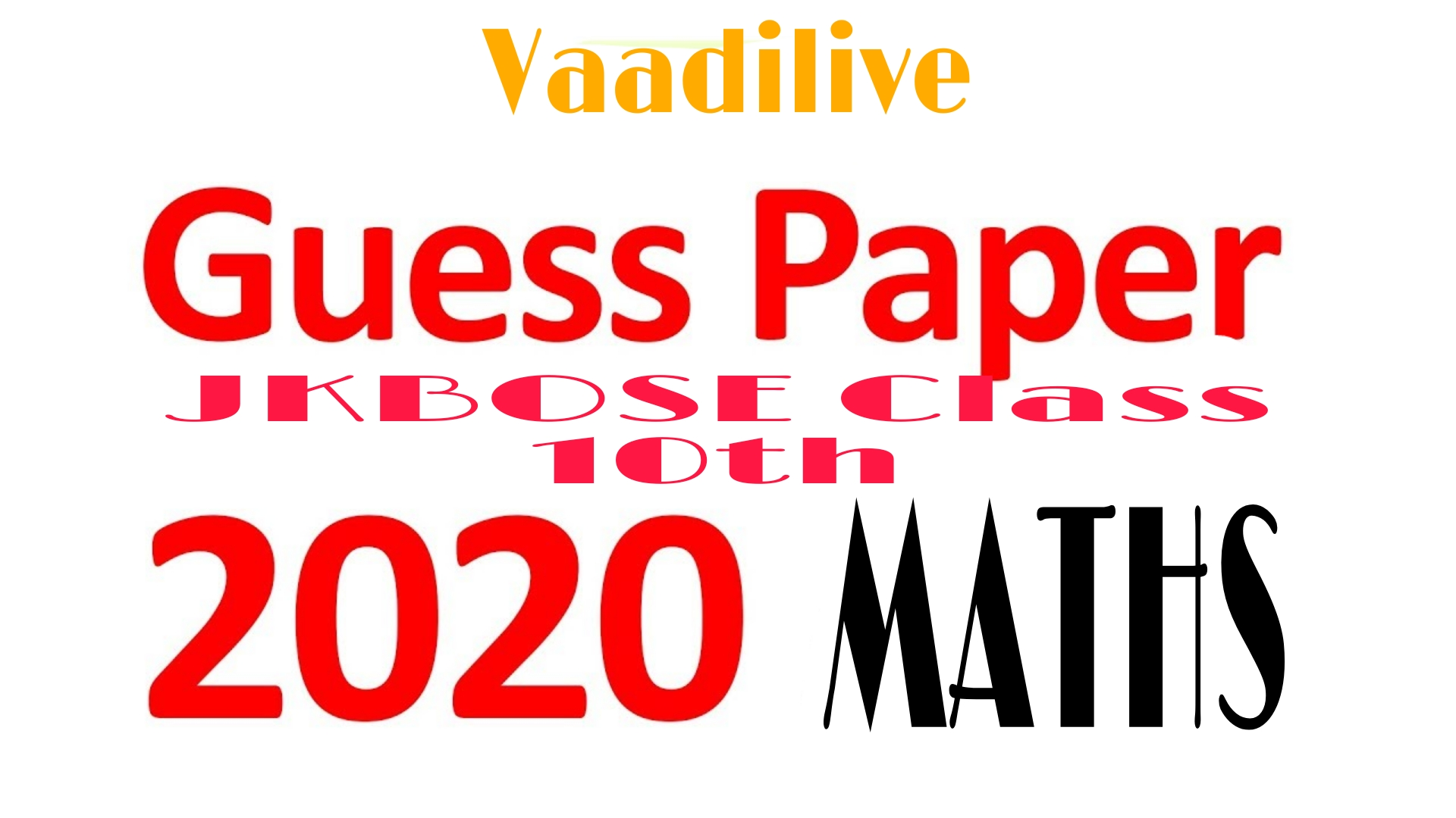 JKBOSE Class 10th Math Guess Paper 2020 | Download Now For Pass Marks