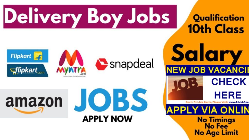 Delivery Jobs in Srinagar | Delivery Boys Required Amazon humhama