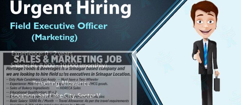 Field executive jobs Srinagar Kashmir