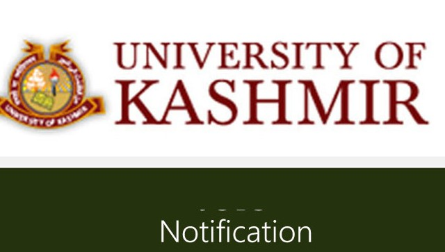 Kashmir University Online Examination Forms: Notification
