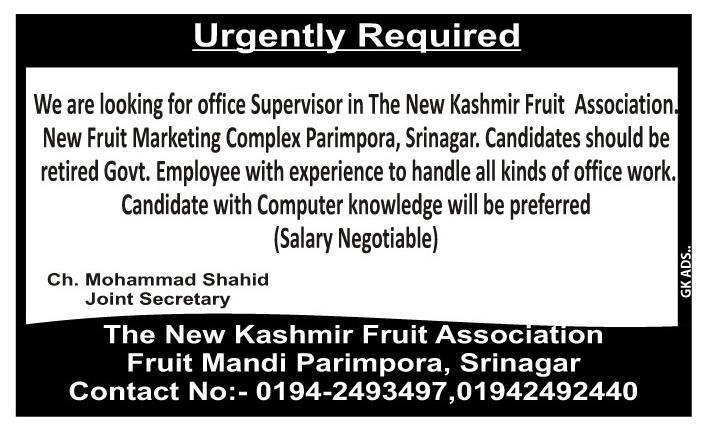Jobs fruit Mandi parimpora