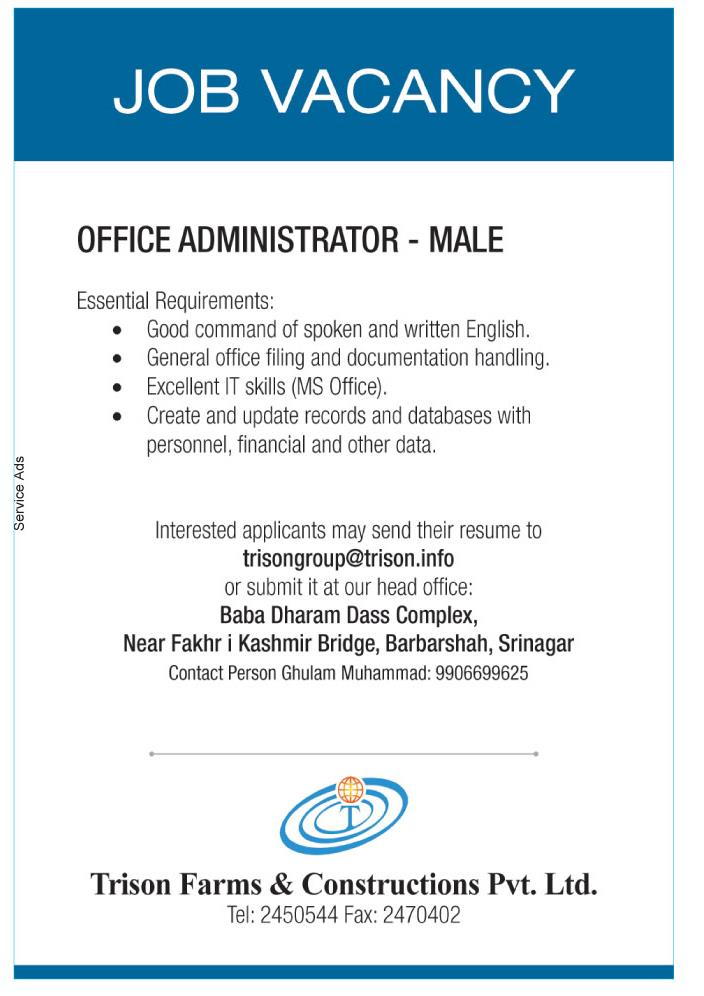 Office admin jobs in srinagar kashmir office administrator job description constructionadmin jobs in construction companyadmin work in construction companycompany admin jobsadministration jobs in construction companyoffice assistant vacancynew office assistant jobs