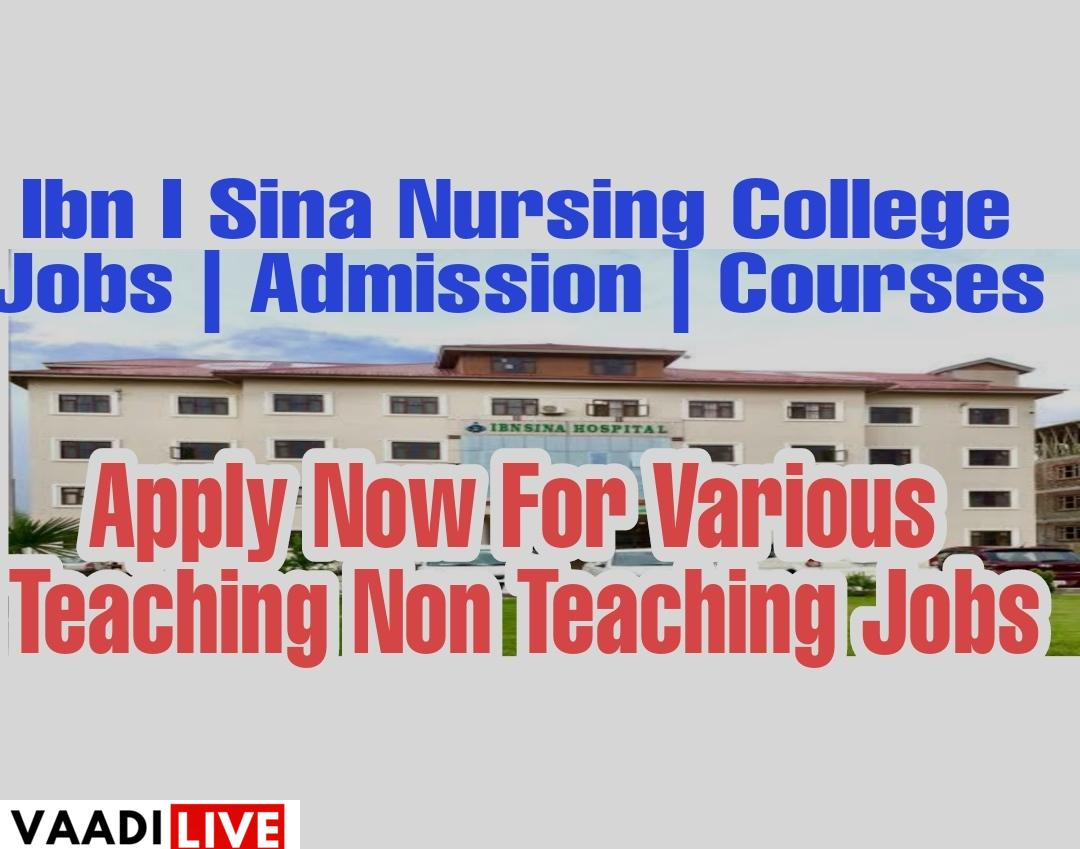 Ibn i sina nursing college budgam Jobs Admission notification Courses 2020 2021