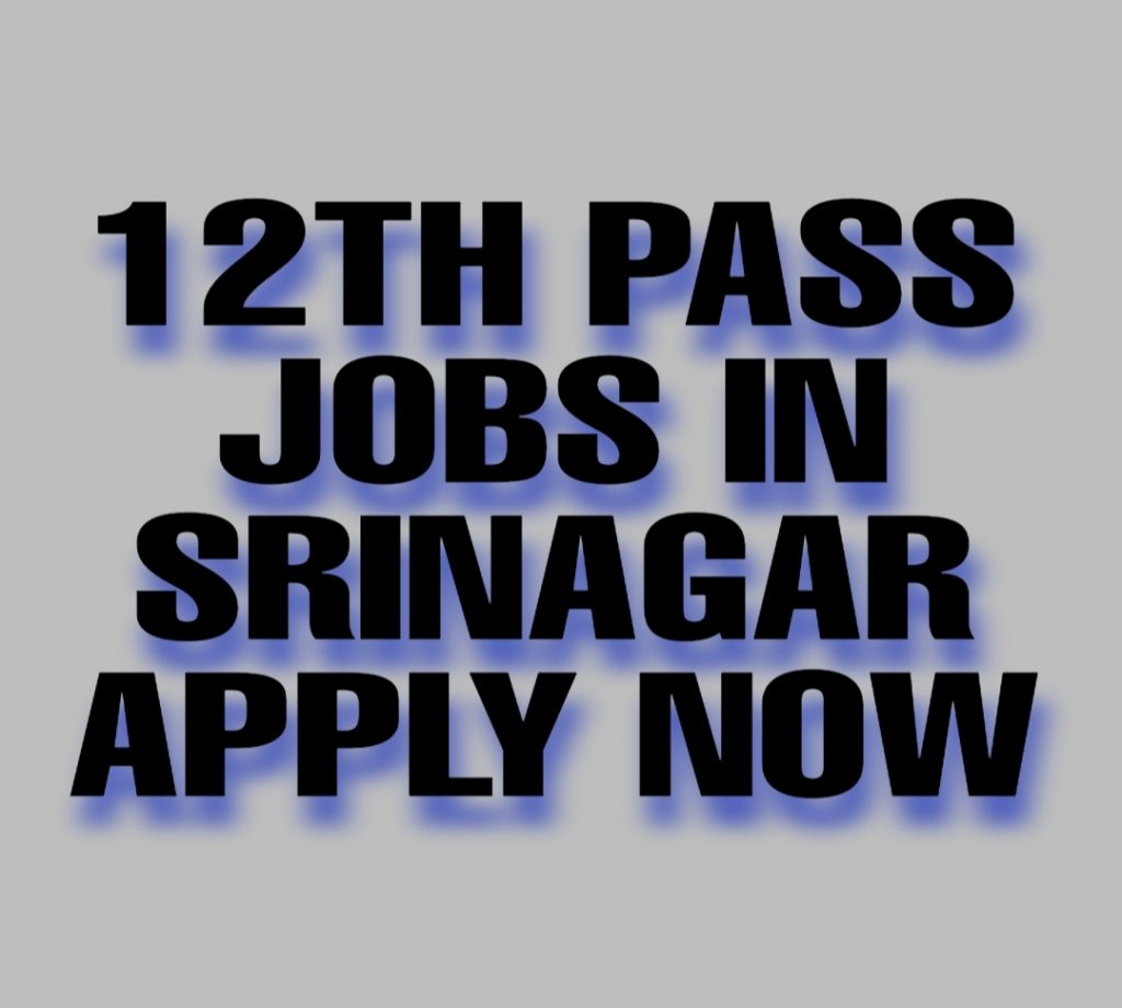 Private jobs in Srinagar for 12th pass