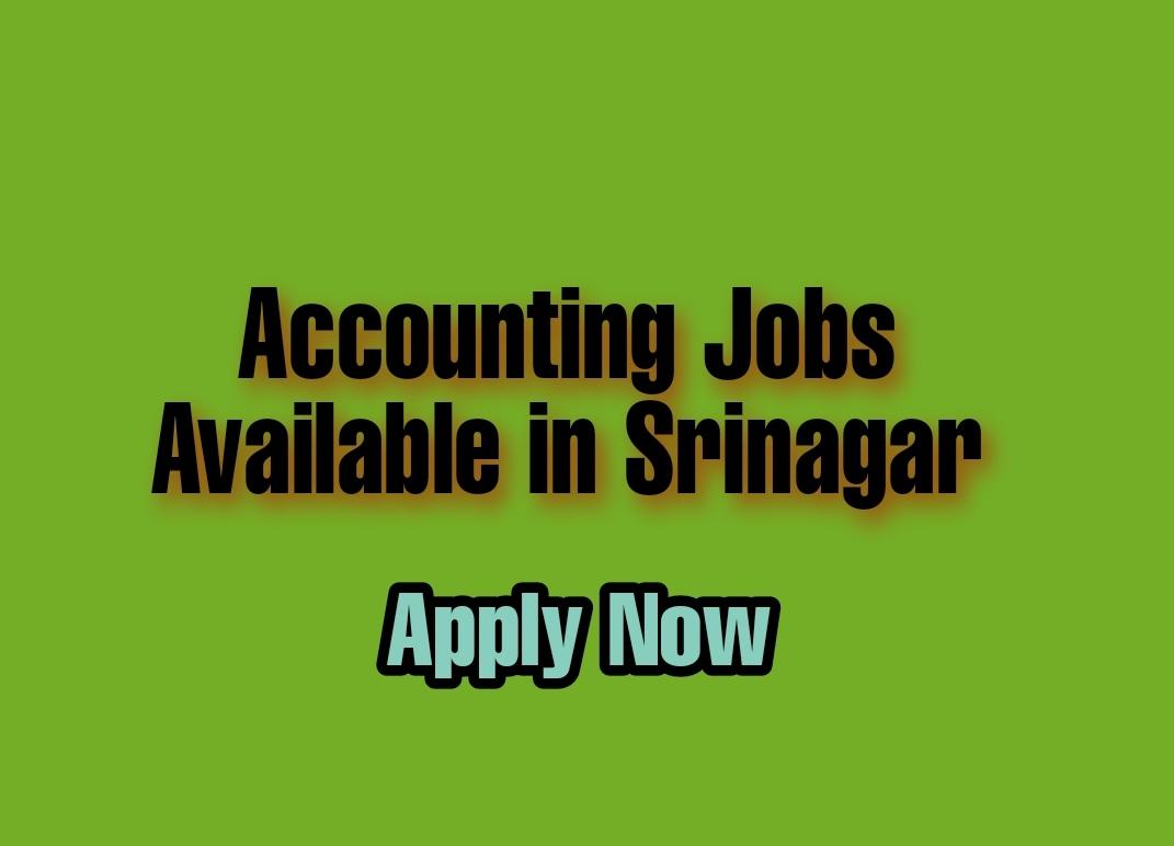 Get all latest info on Accounting jobs in Srinagar Kashmir for BCOM, MCOM, Graduate Freshers