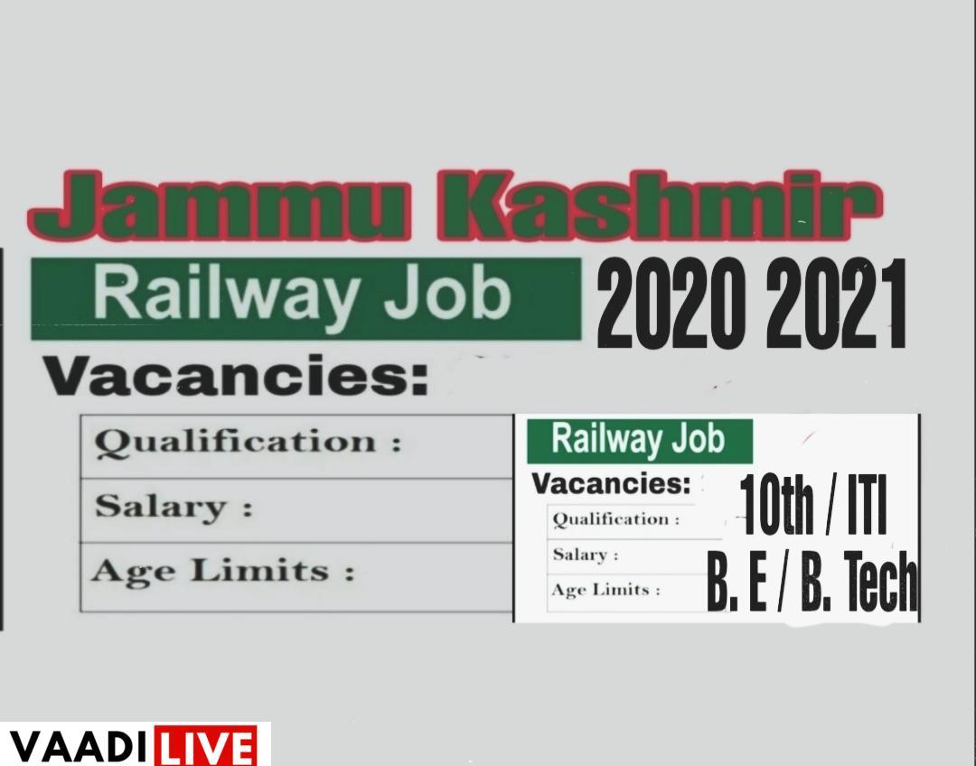 Railway recruitment in Jammu kashmir Jobs 2020 2021 Konkan railway jobs in Jammu kashmir railway jobs in j&k 2020 jammu kashmir railway