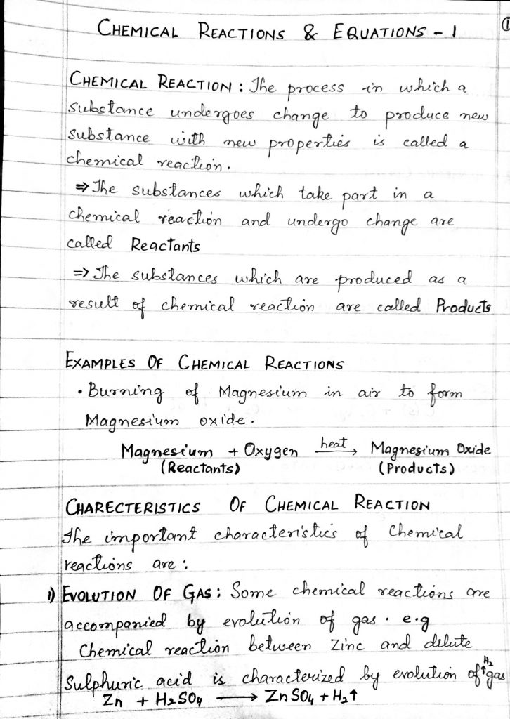 JKBOSE Class 10th Science Notes Handwritten Download Pdf Physics Chemistry Biology