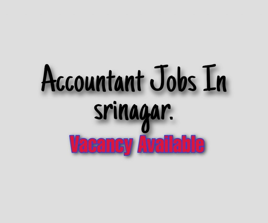 Accountant job vacancy in srinagar Nowgam byepass Srinagar Jobs Wani group of companies