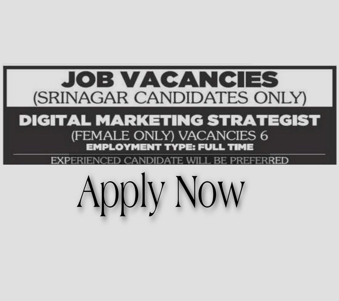 private jobs in srinagar for females 2021 Latest jobs Srinagar Computer operator