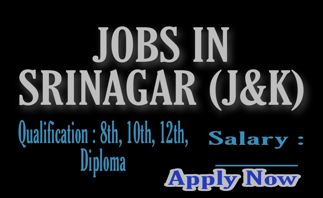 8th pass jobs in Srinagar Kashmir J&k 2021 10th 12th pass Private Company