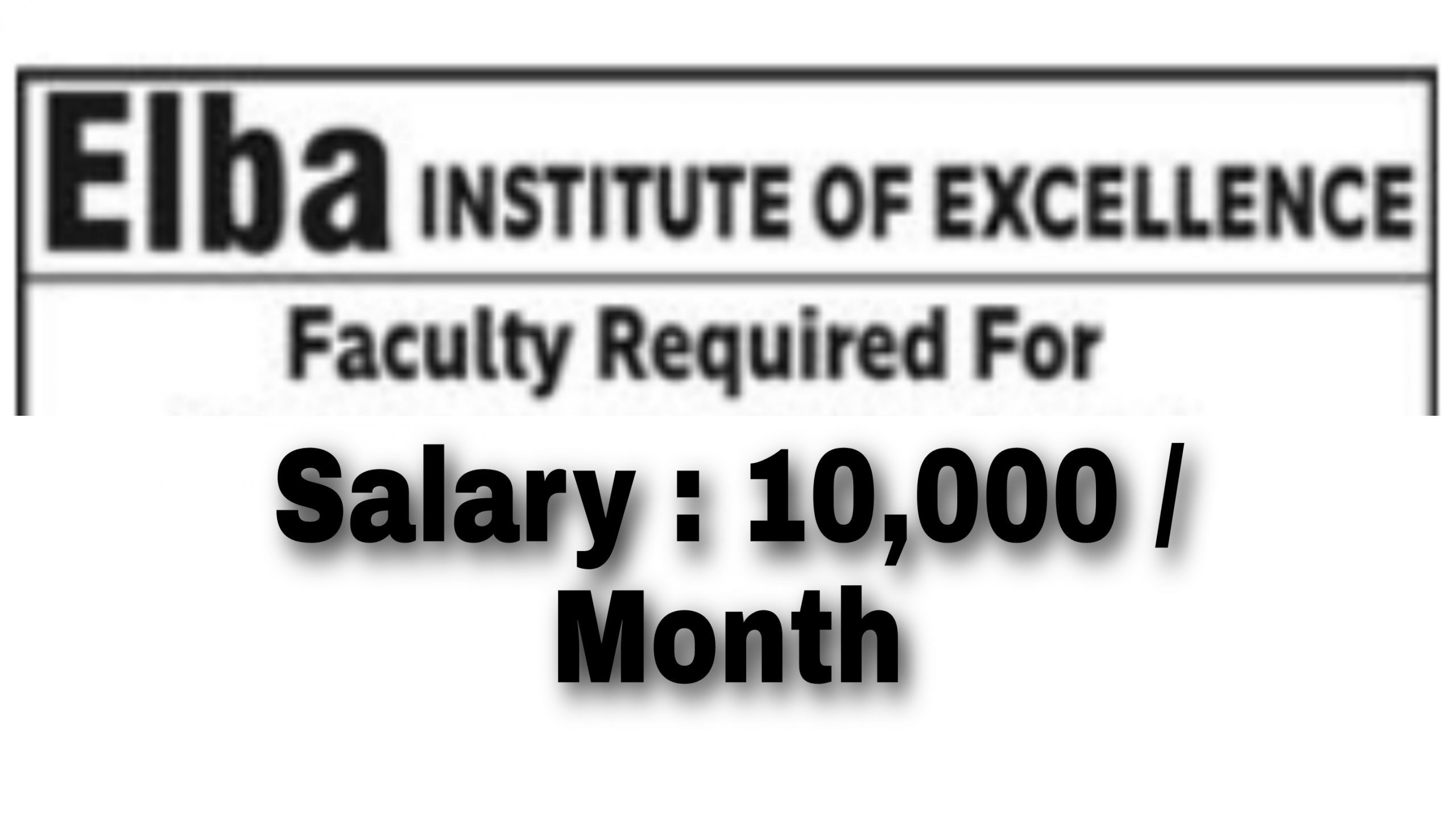 Private tution jobs in Jammu Elba Institute of Excellence Jobs Jammu division Talab khatikan