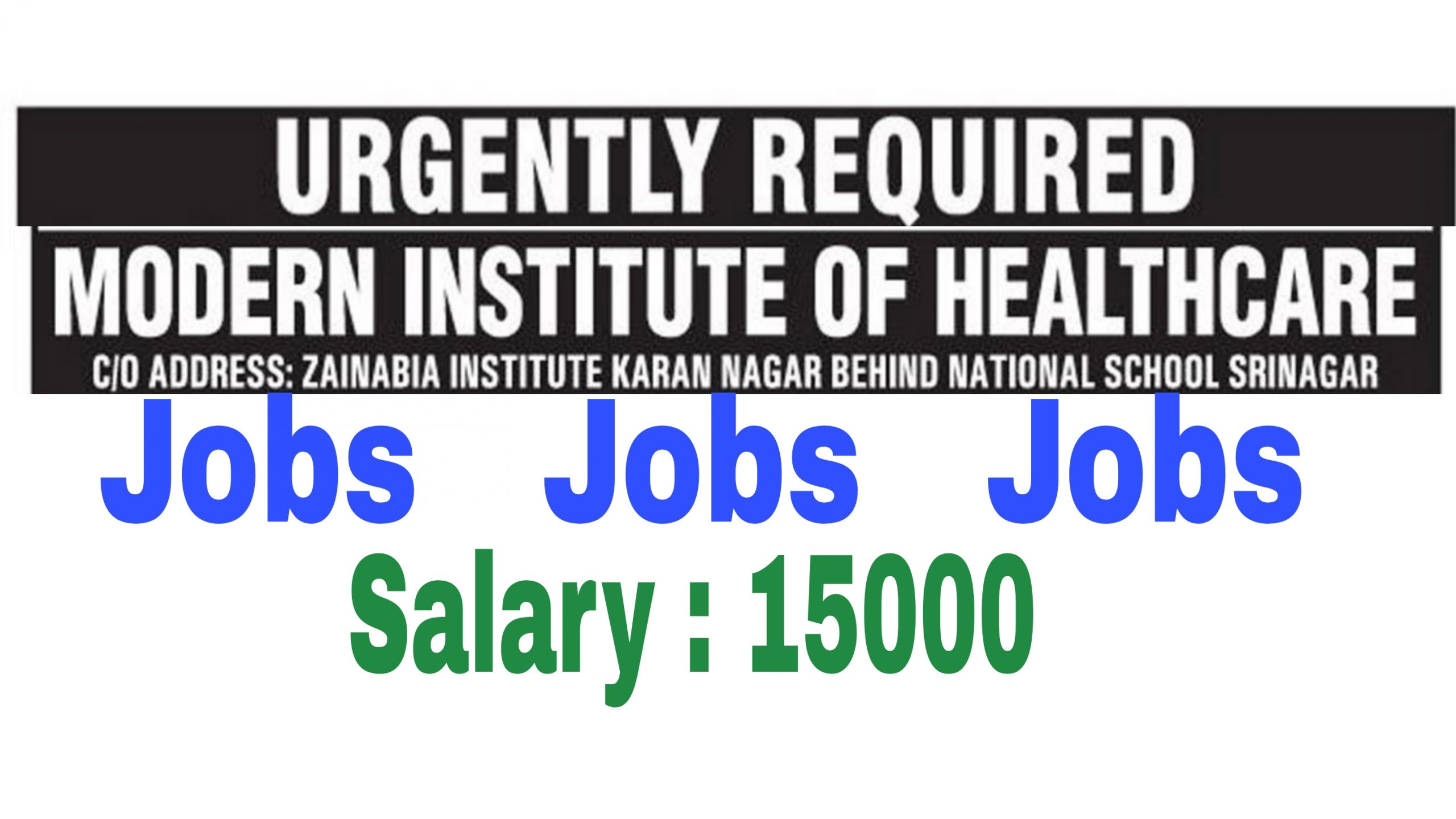 Latest private jobs in kashmir Medical assistant Medical Lab technician Jobs MCA