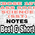 JKBOSE Class 10th Social Science Notes SST History Civics Geography Economics PDF Download