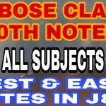 Jkbose 10th Class notes Pdf download Science Math English SST URDU Handwritten notes Best short notes