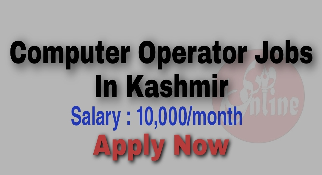 computer operator jobs in kashmir Salary Showroom