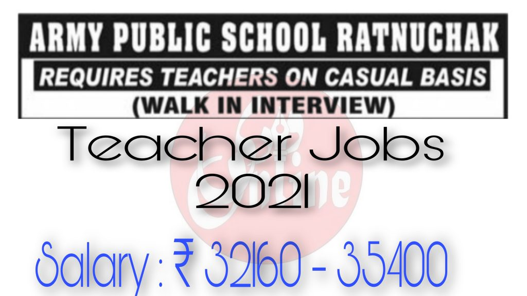 Army public school Ratnuchak Website Teaching Jobs Jammu