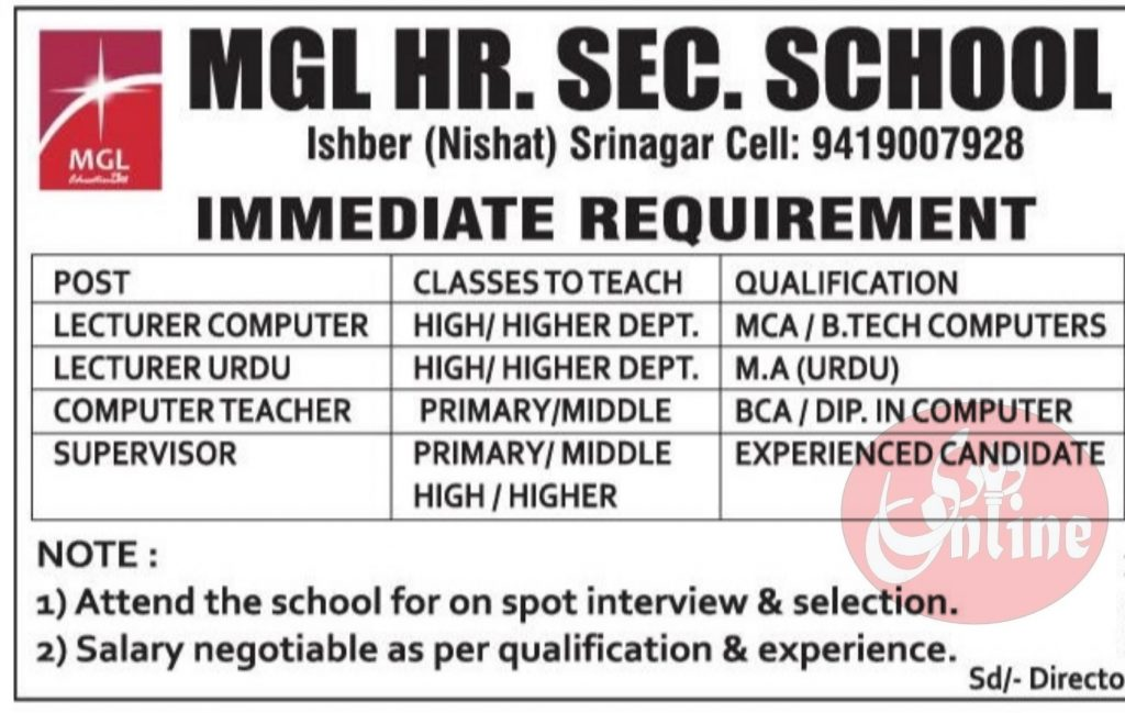 MGL School Nishat Jobs Ishber Admission 2021 Fee structure