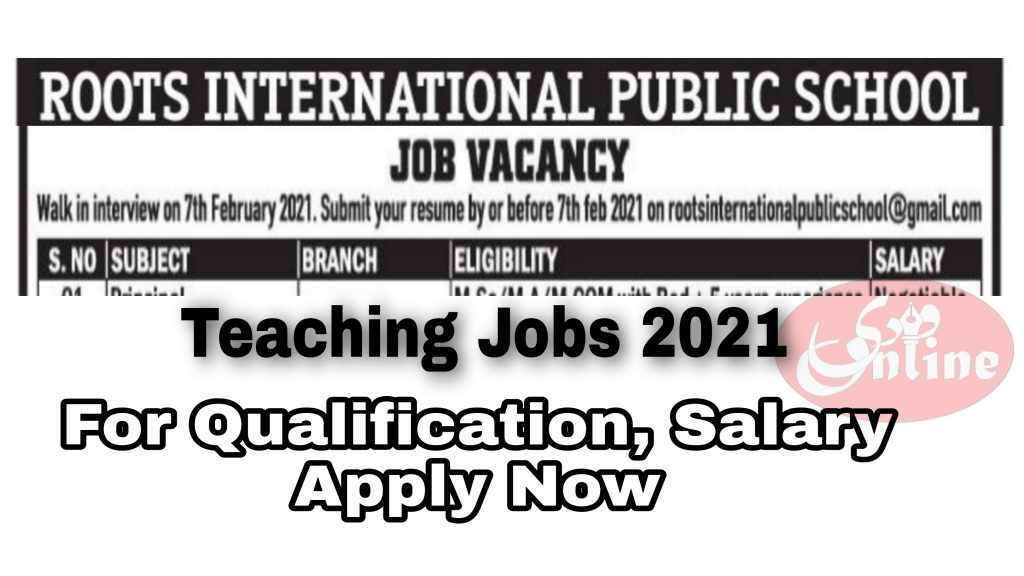 Roots international public school beerwah Teaching Jobs Admission 2021 Contact number Budgam