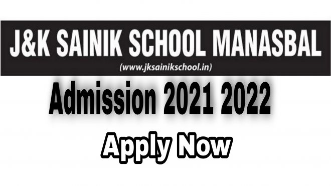 jk sainik school manasbal admission 2021 2022 J&K Sainik School Form Apply online