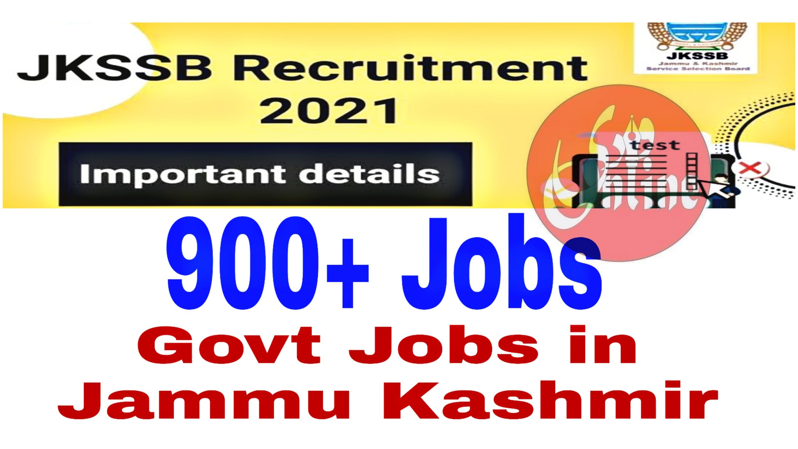 jkssb new posts 2021 927 Notification How to apply Jk Service Selection board