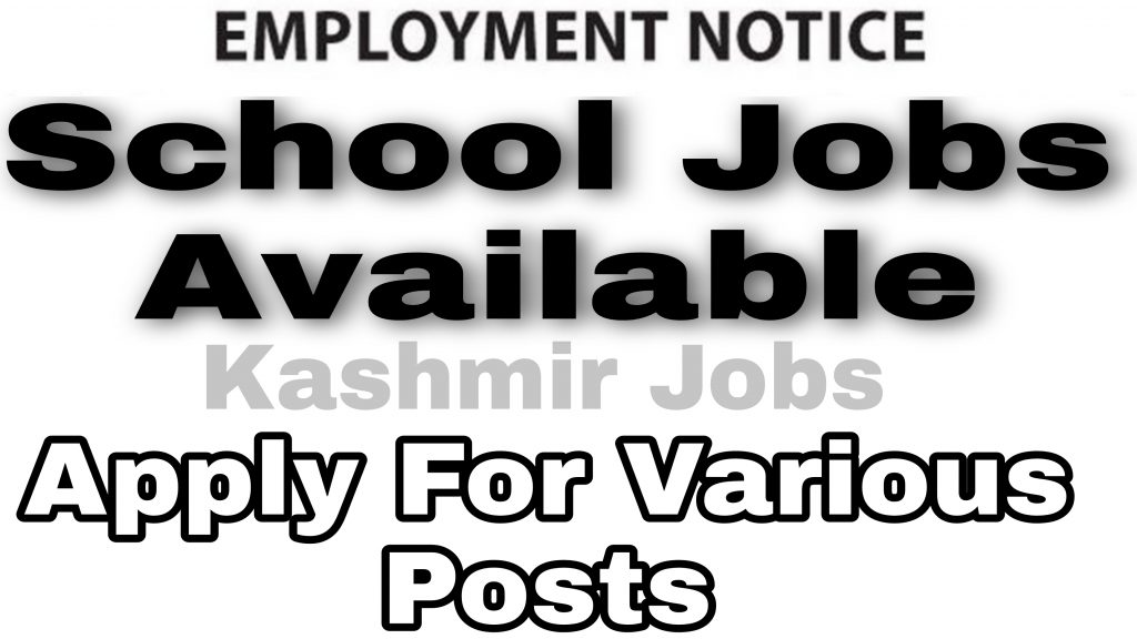School jobs in baramulla 2021 Females Hanfia Model High School Delina Private