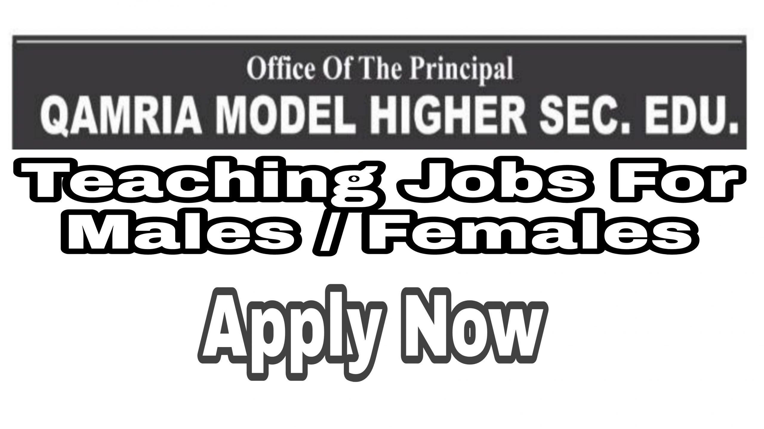 Qamaria Model High School Ganderbal Saloora Jobs Teaching
