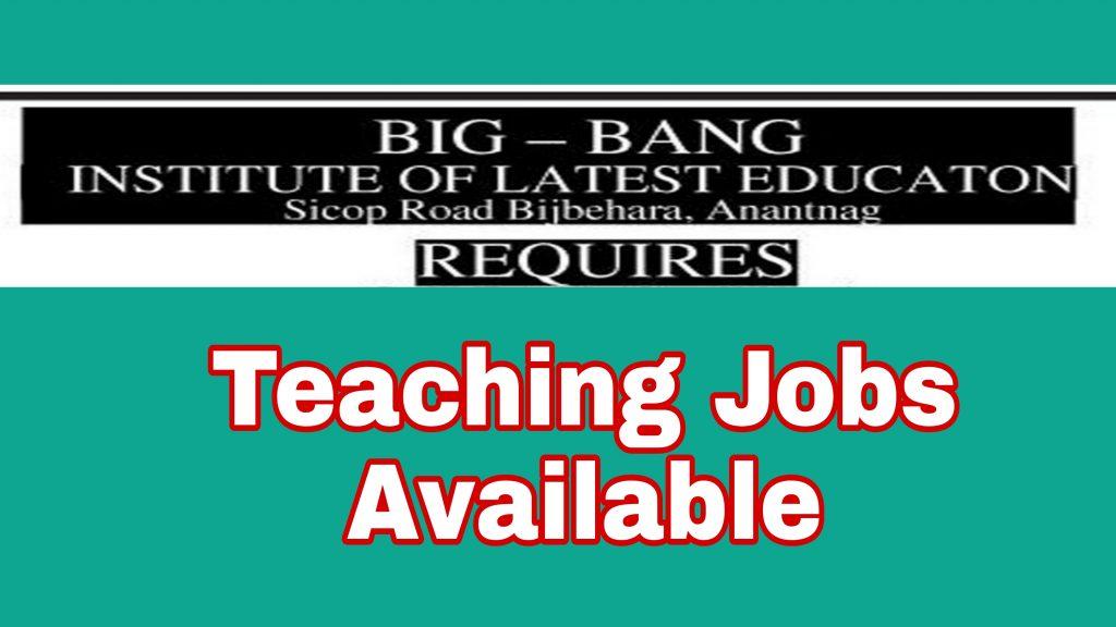 Female teaching jobs in anantnag