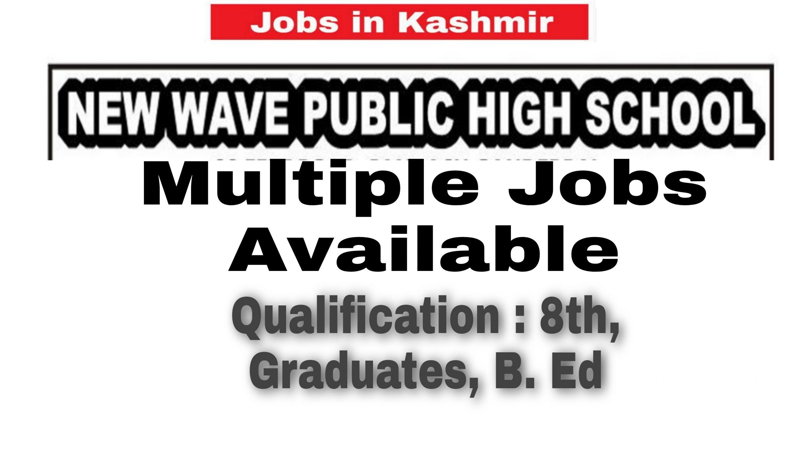 Private school jobs in Ganderbal 2021 Teacher Vacancy Posts