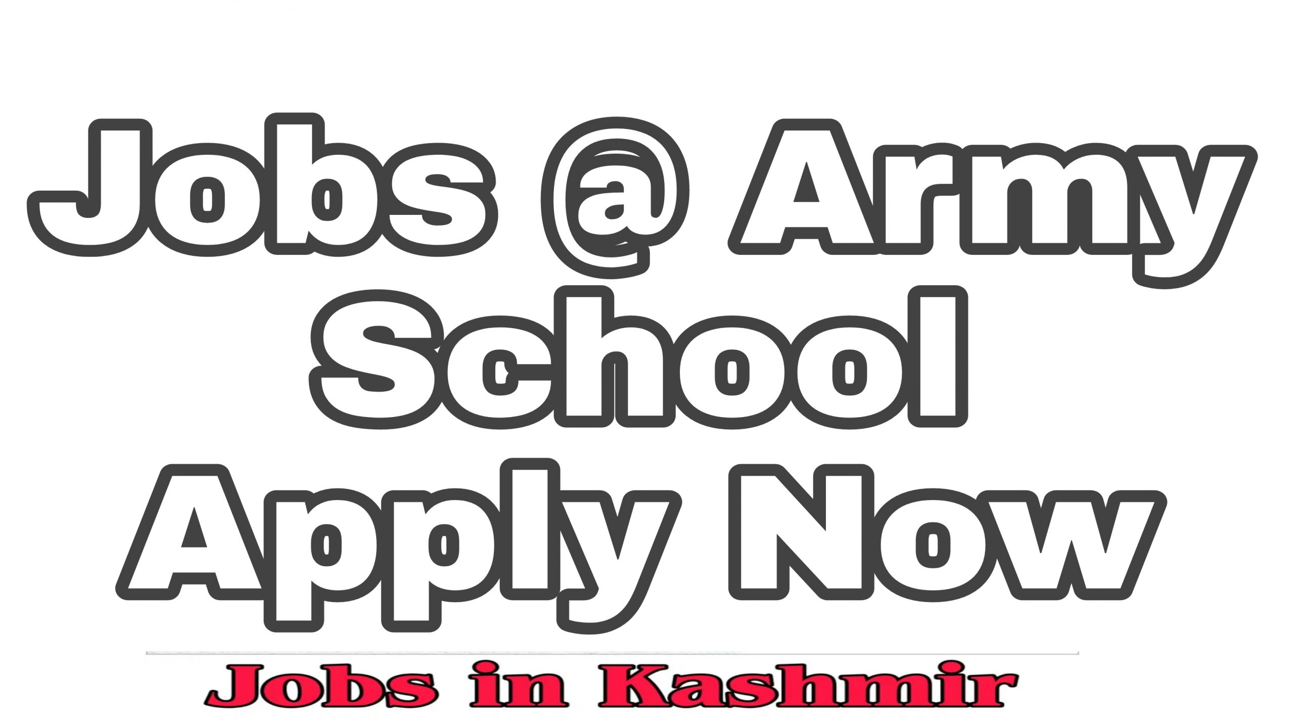 Army Public School Miran Sahib Recruitment 2021.