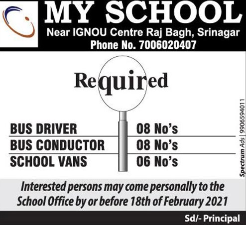 Job for Driver & Conductor in Srinagar 22 Posts Available