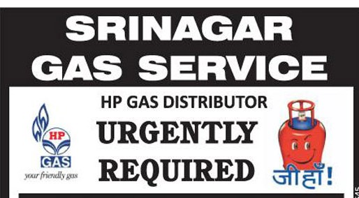 Job in HP Gas Service in Srinagar: Apply Now