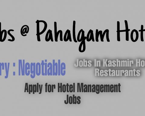 Jobs in Pahalgam hotels Kashmir Best Contact number Five star hotels hotel management jobs