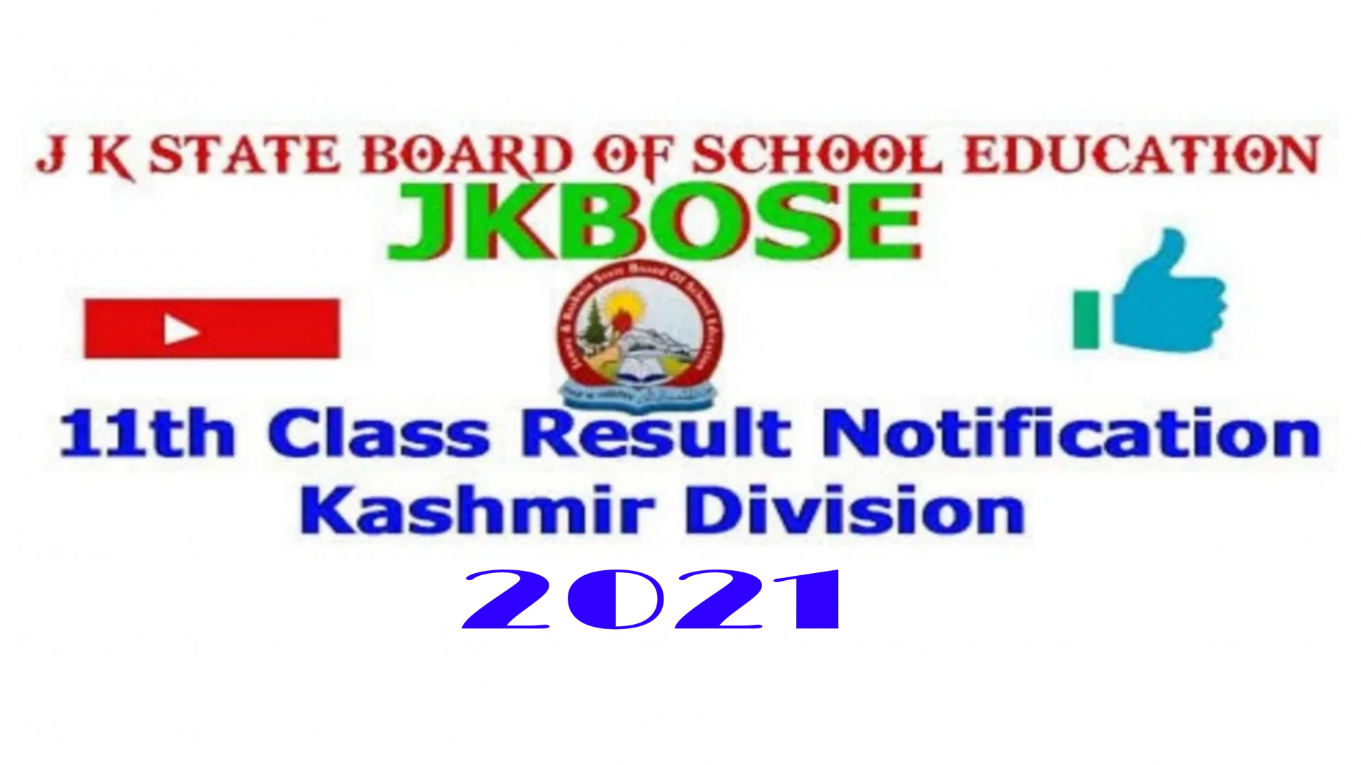 Jkbose 11th class result 2021 Kashmir Division Latest update News Results