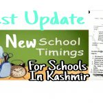 New school timings in Kashmir 2021 Latest Srinagar Division