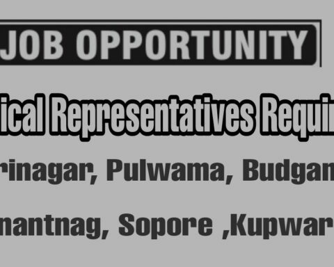 MR Medical representative jobs in Srinagar Anantnag Kupwara Budgam Jammu Kashmir