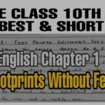 jkbose class 10th english notes Chapter 1 Footprints without feet Pdf Download