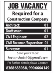 Jobs in Construction Company 2021 Apply Now